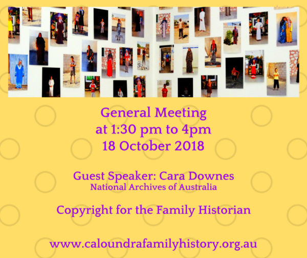 Cara Downes: Copyright for the Family Historian
