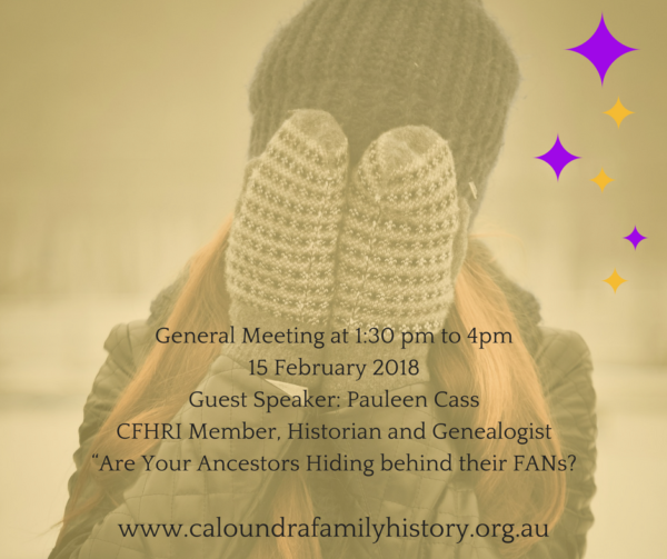 General Meeting, 15 February 2018, Guest Speaker: Pauleen Cass