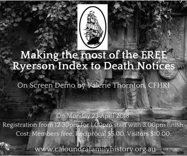 Making the most of the FREE Ryerson Index to Death Notices