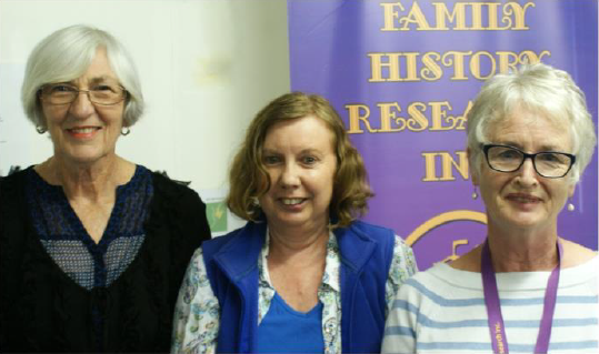 Margaret Lenz, Kay Middlemiss and Shirley Leggett