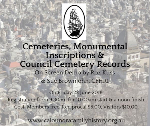 Cemeteries, Monumental Inscriptions & Council Cemetery Records