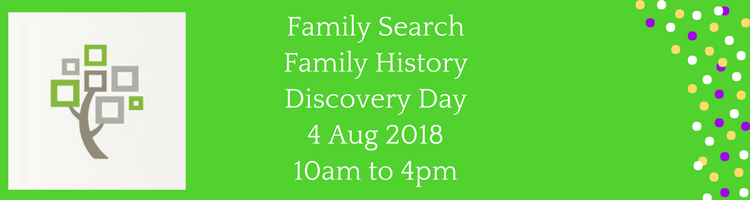 Family Search Family History Discovery Day