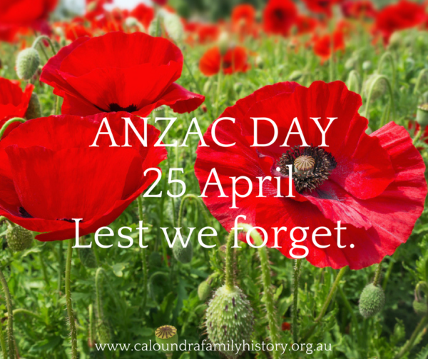 ANZAC Day 2018: Lest we forget.