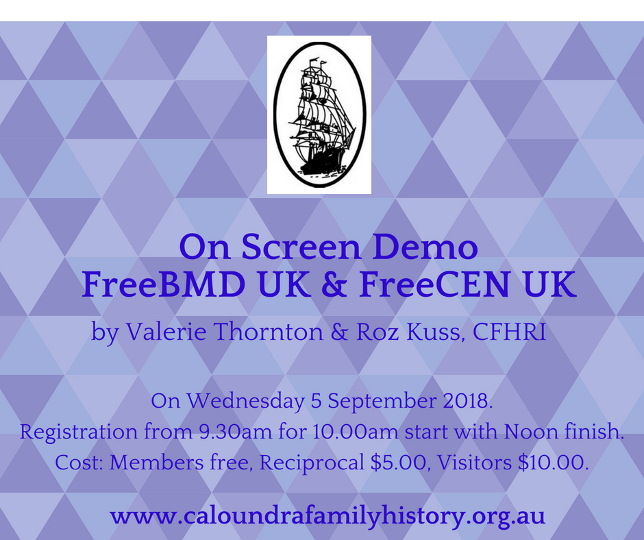 FreeBMD & FreeCEN UK on screen demo