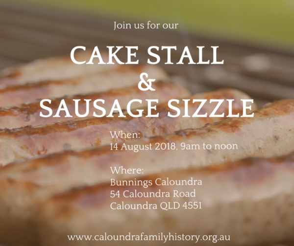 CAKE STALL & SAUSAGE SIZZLE