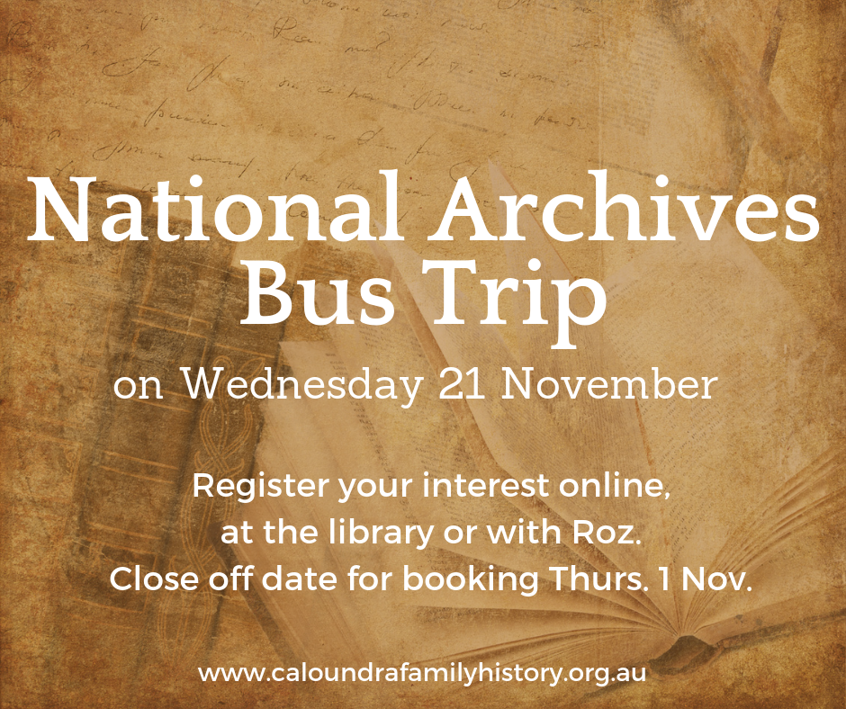 Proposed National Archives Bus Trip