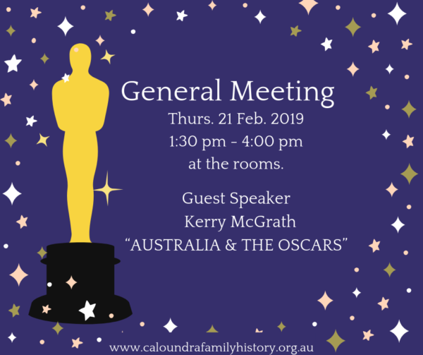 February 2019 General Meeting