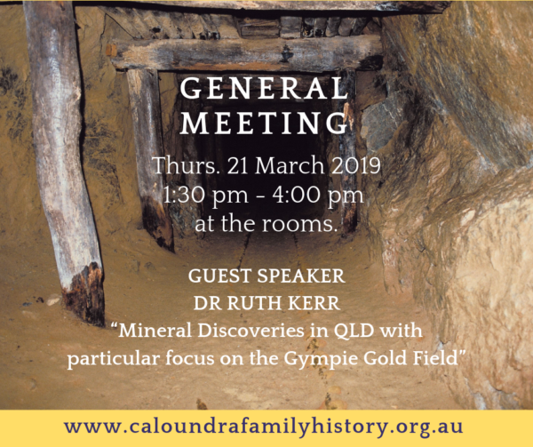 March 2019 General Meeting