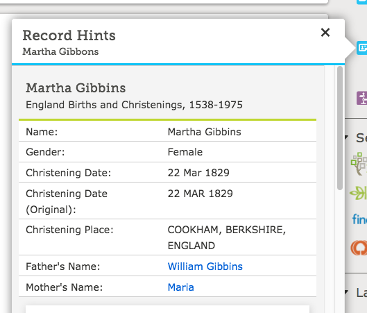 Family Search Hint example