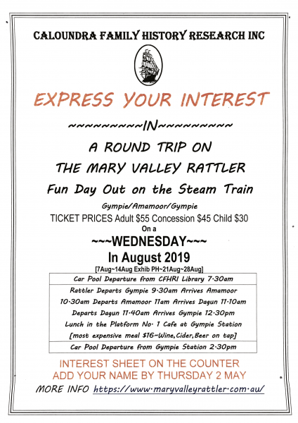 EOI Mary Valley Rattler Details