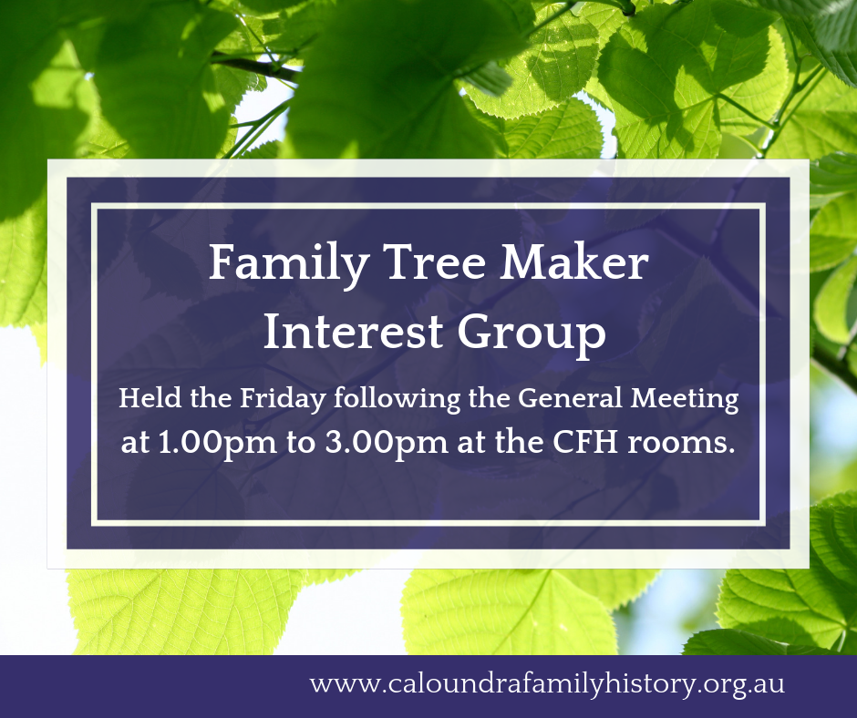 Family Tree Maker Interest Group Banner