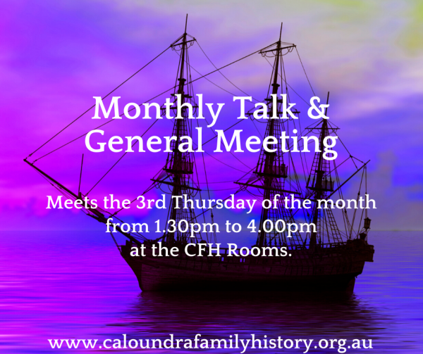 Monthly Talk & General Meeting