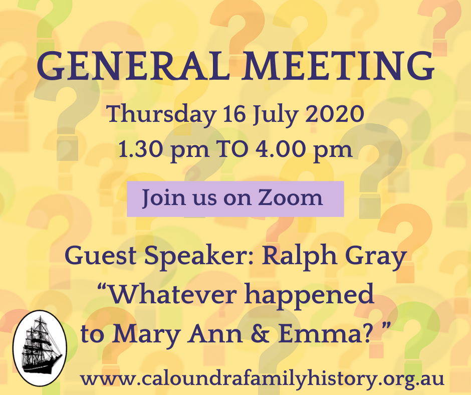 General meeting July 2020 with Ralph Gray