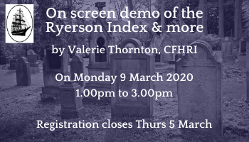 On screen demo of Ryerson Index & more