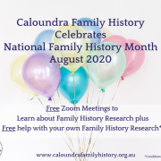 Free Events for National Family History Month