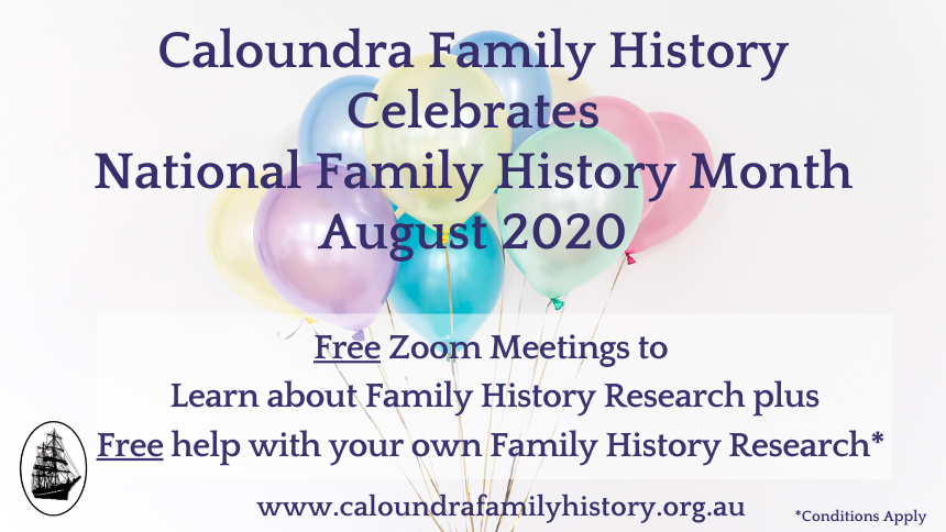 National Family History Month August 2020