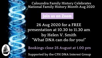 Zoom: What DNA can do for you with Helen Smith