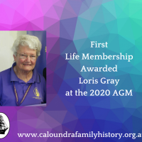 First Life Membership Ever Awarded to Loris Gray